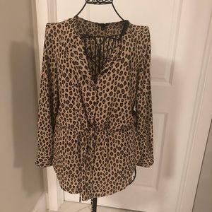 Ann Taylor animal print blouse
